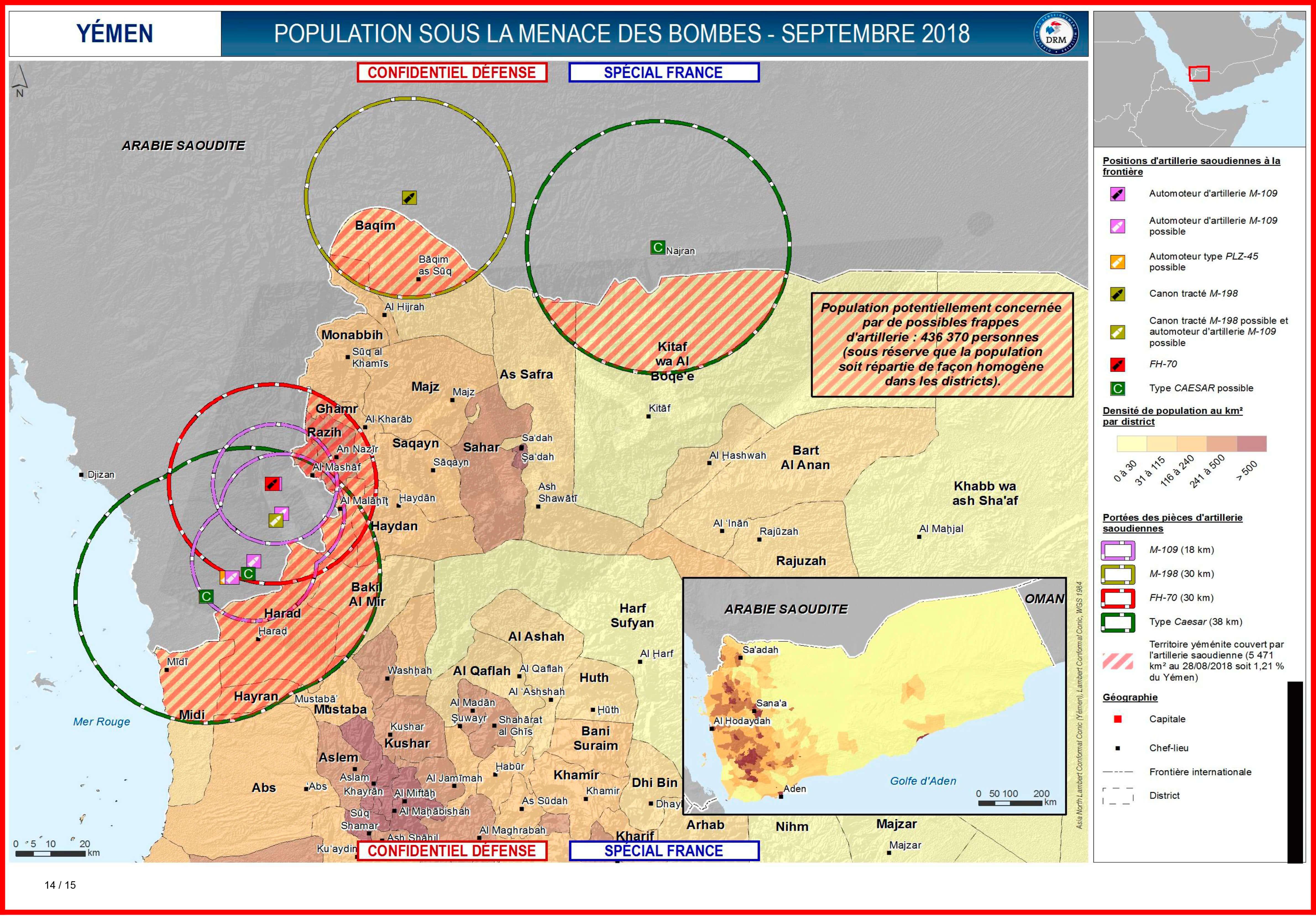 436.370 مدني مُعرّضُ لضربات الأسلحة الفرنسية حسب التقرير